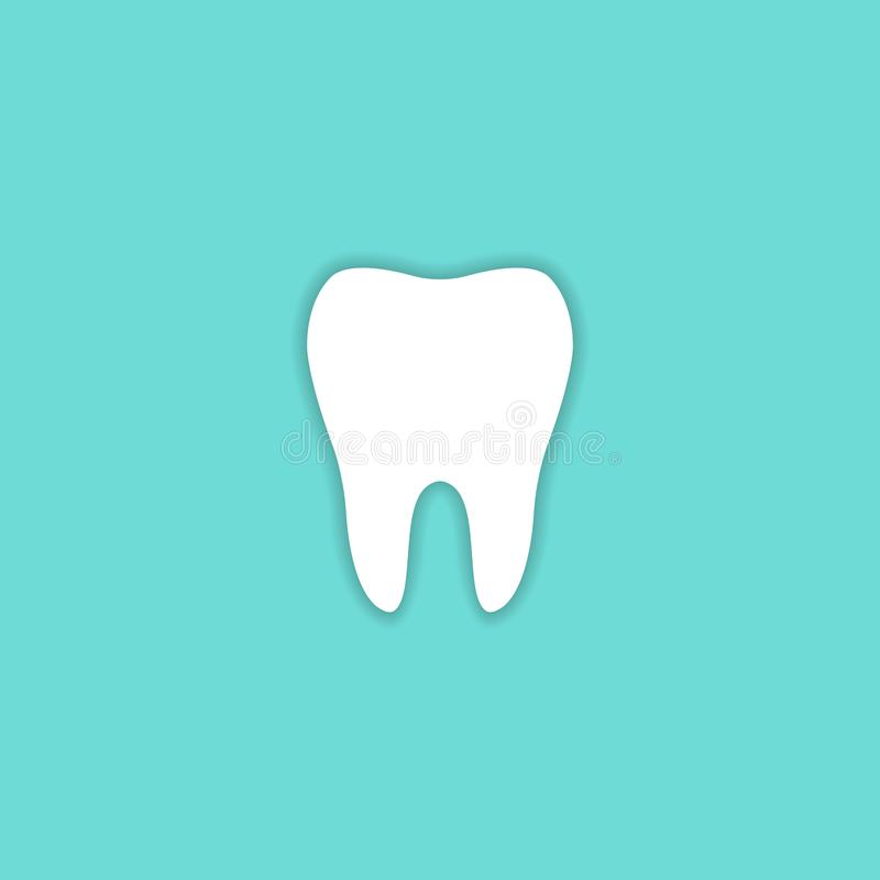 Tooth Icon vector symbol health concept sign. EPS10 stock illustration