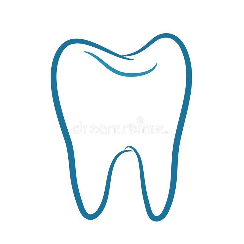 Tooth Icon vector. On white, stock vector illustration royalty free illustration