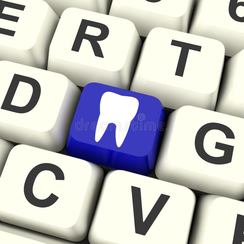 Free Tooth Key Means Dental Appointment Or Teeth Royalty Free Stock Image - 38167866