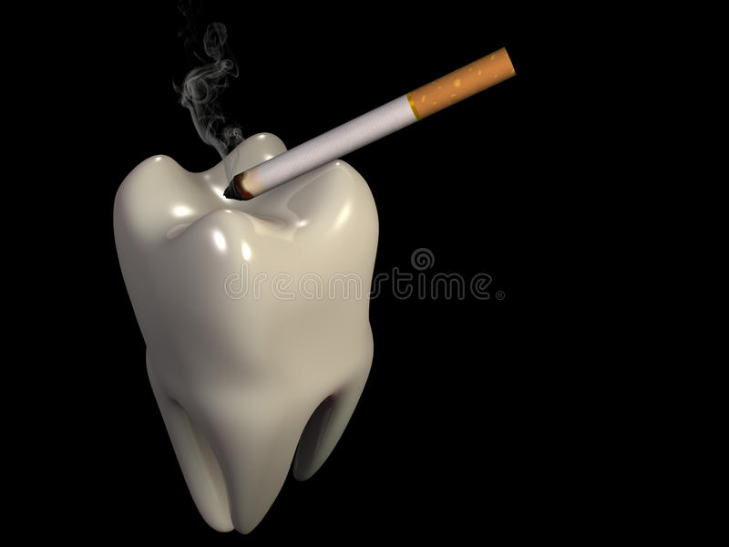The tooth like ashtray stock image