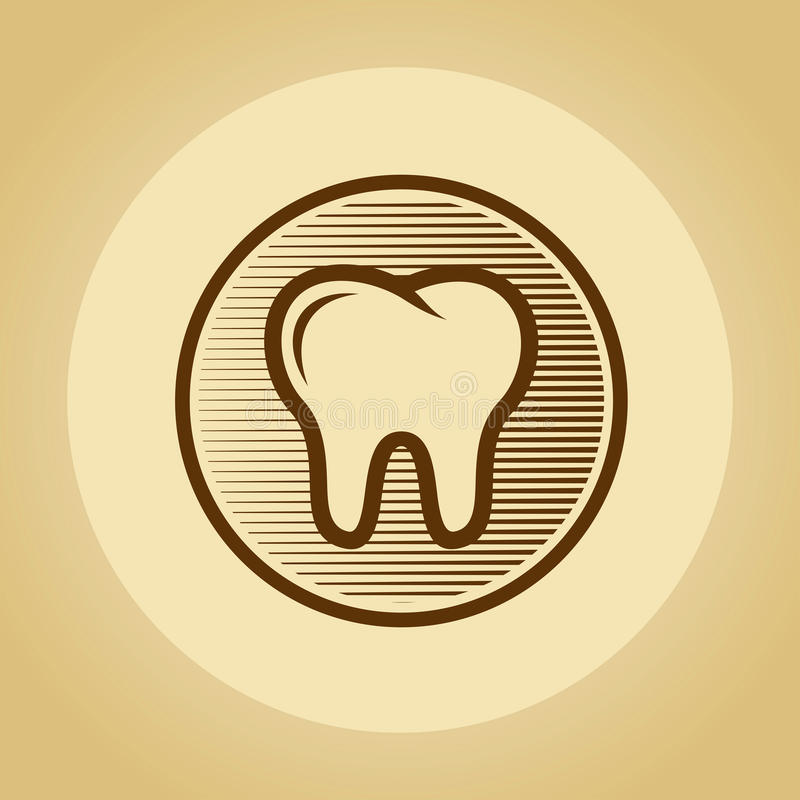 Download Tooth logo in retro style. stock vector. Image of root - 33498146