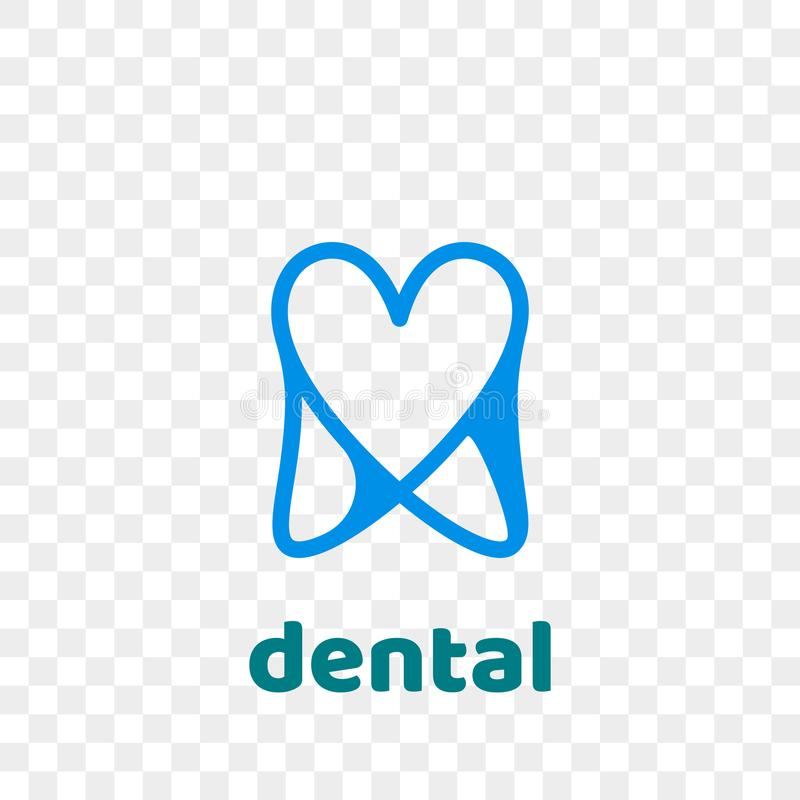 Tooth logo vector dentist stomatology dental icon stock illustration