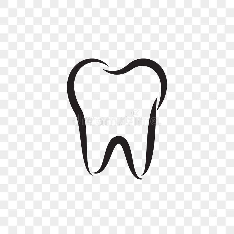 Tooth logo vector icon dentist stomatology dental stock illustration