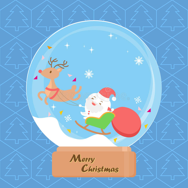 Tooth with merry christmas stock illustration