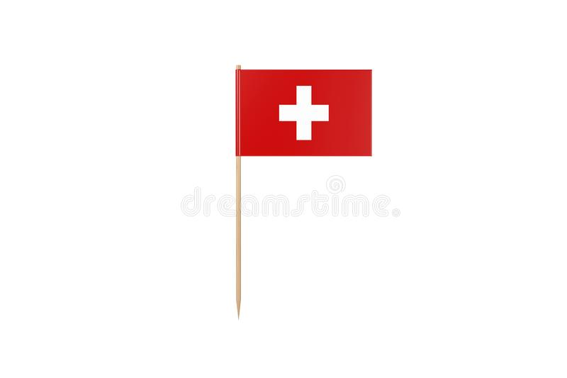 Tooth Pick Flag Concept On White With Clipping Path vector illustration