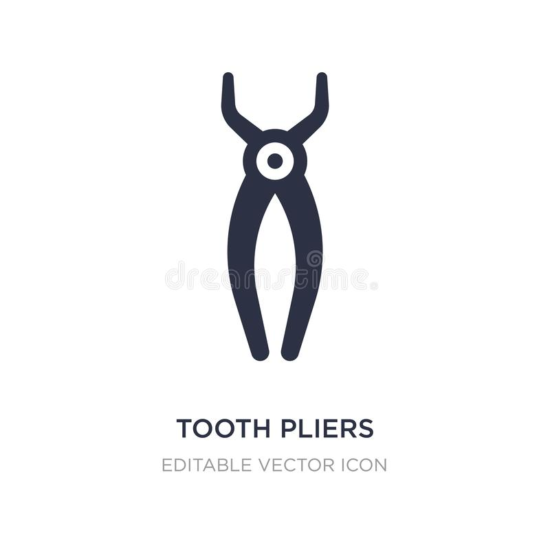 tooth pliers icon on white background. Simple element illustration from Dentist concept stock illustration