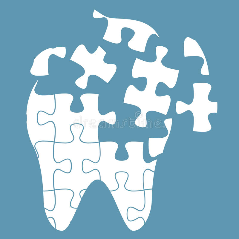 Tooth Of The Puzzle Stock Vector Illustration Of Anatomy 92941983