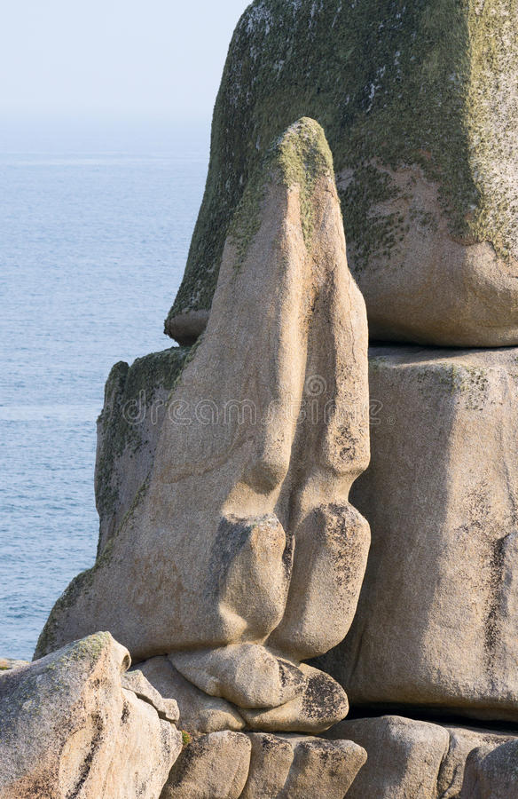 Tooth rock, St. Mary& x27;s Isles of Scilly. royalty free stock photos