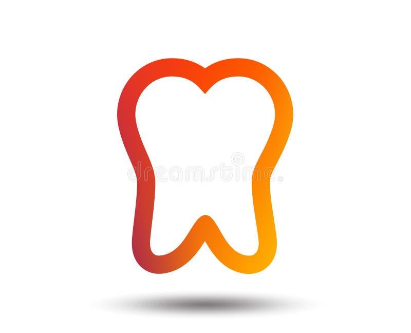 Tooth sign icon. Dental care symbol. Blurred gradient design element. Vivid graphic flat icon. Vector vector illustration