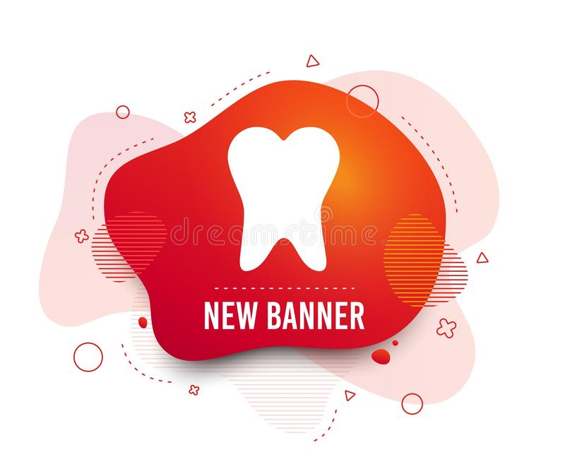Tooth sign icon. Dental care symbol. Vector. Fluid badge. Tooth sign icon. Dental care symbol. Abstract shape. Gradient tooth icon. Flyer liquid banner. Vector vector illustration