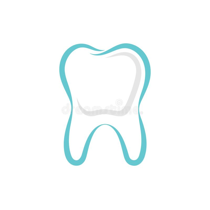 Tooth graphic sign. vector illustration