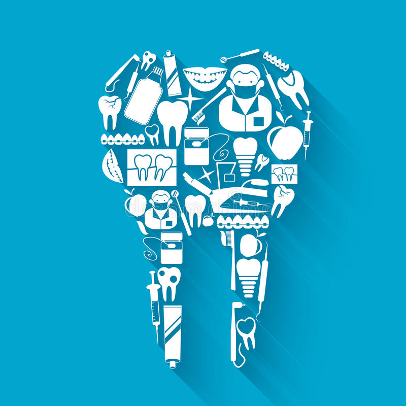 Tooth stomatology concept royalty free illustration