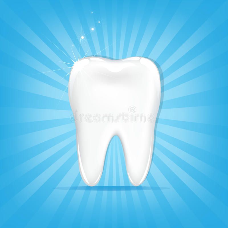 Tooth With Sunburst royalty free illustration