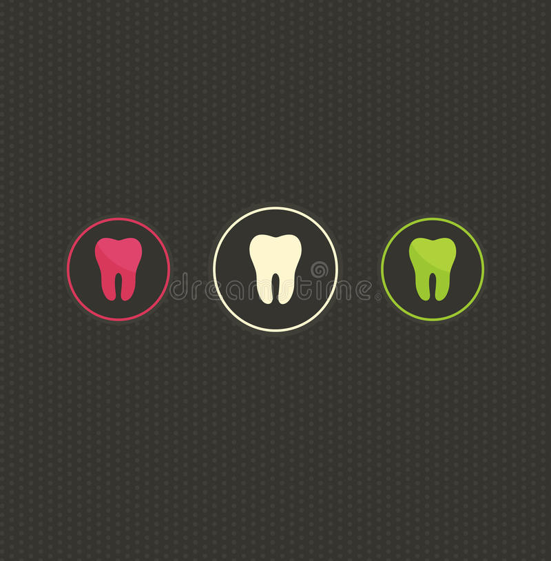 Tooth symbol background vector illustration