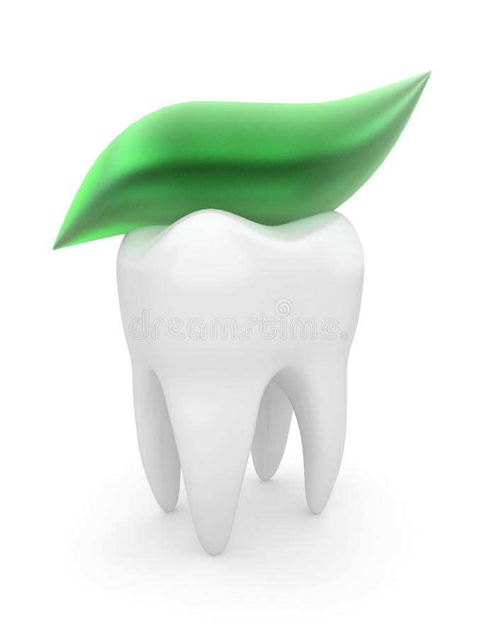 Download Tooth and tooth-paste. 3d stock illustration. Image of reminder - 20524606