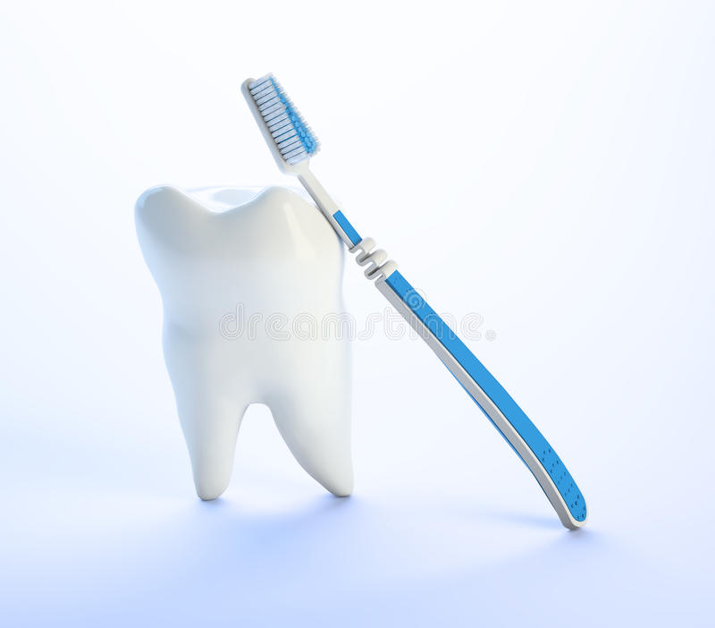 Download Tooth and a toothbrush stock illustration. Image of concept - 19381534