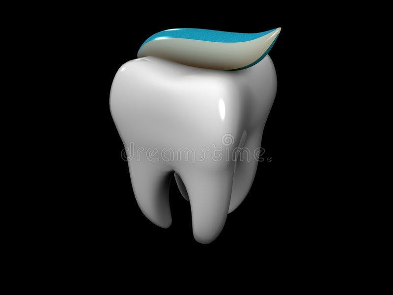 Tooth And Toothpaste Stock Images