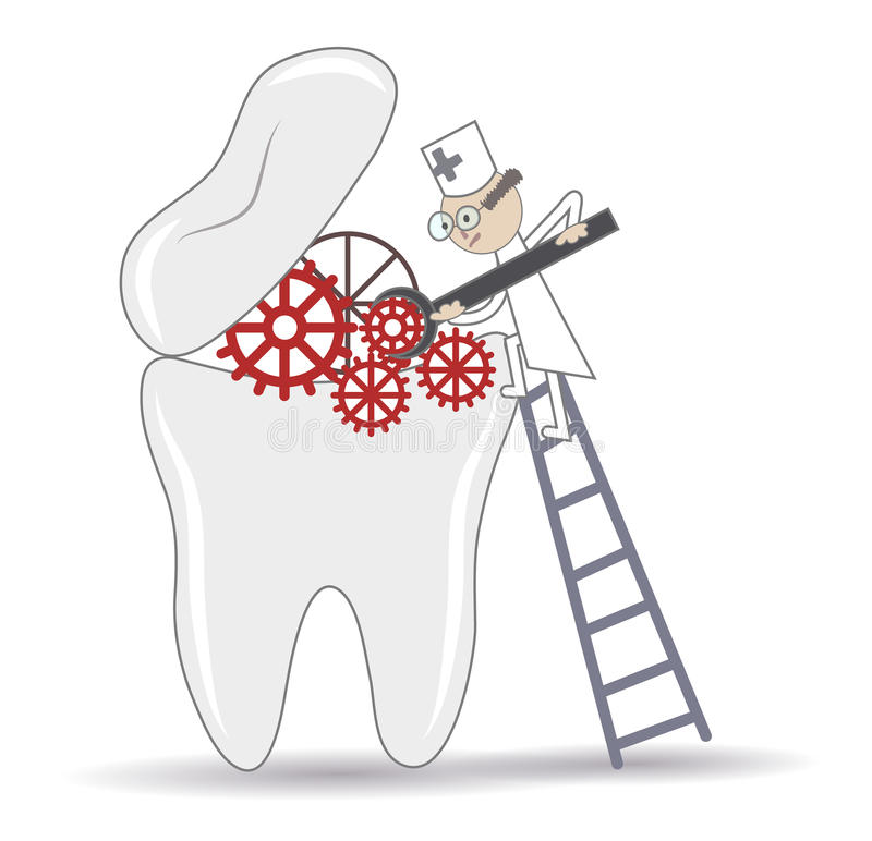 Tooth treatment stock illustration