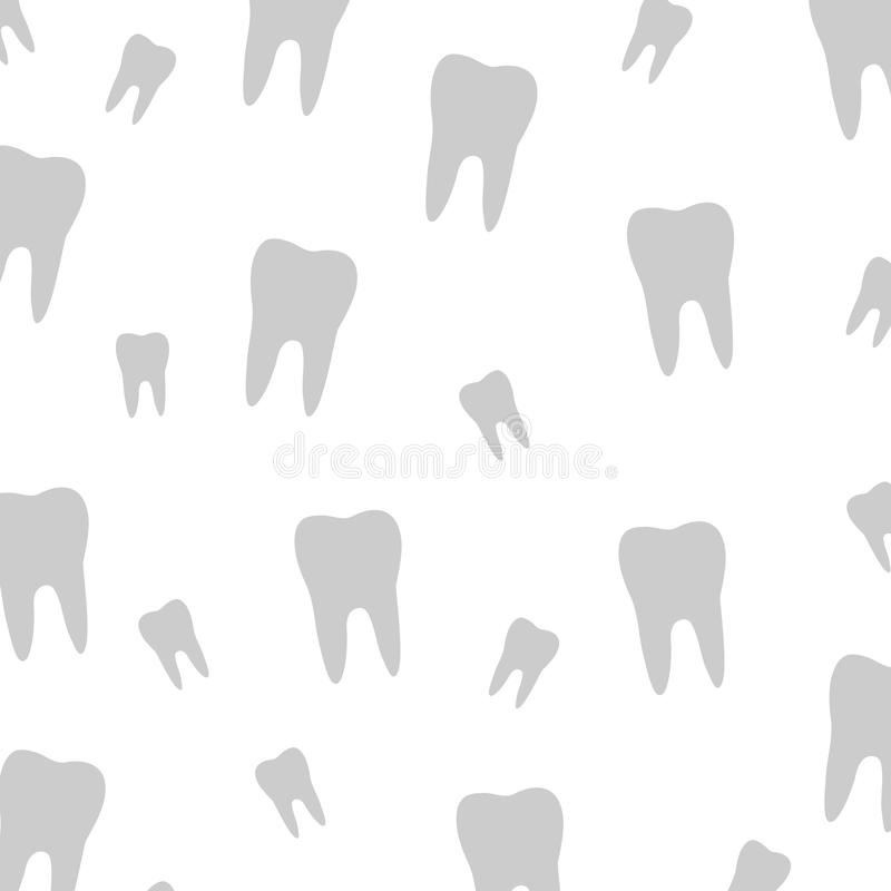 Tooth wallpaper for dentist. Tooth wallpaper for a dentist royalty free illustration