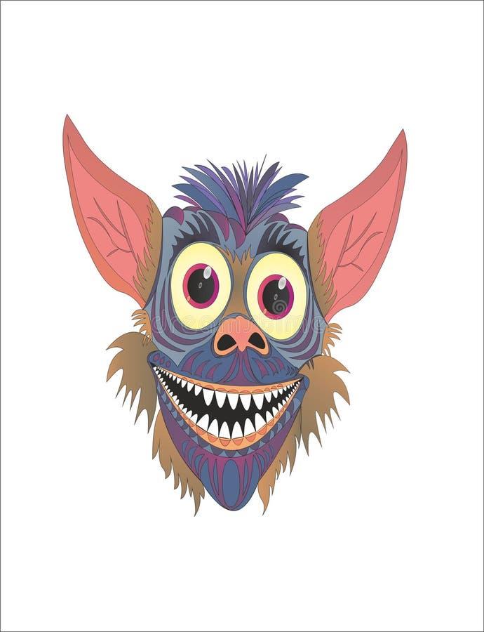 Toothache шаржа Gremlin смешной бесплатная иллюстрация