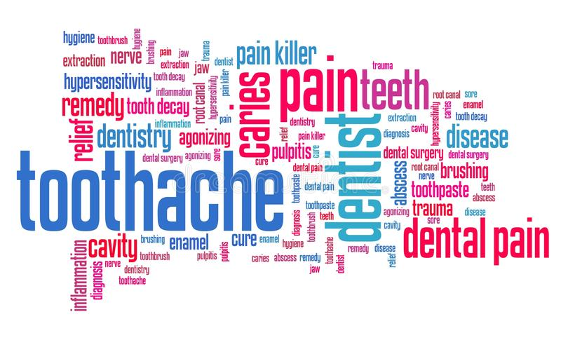 toothache vektor abbildung