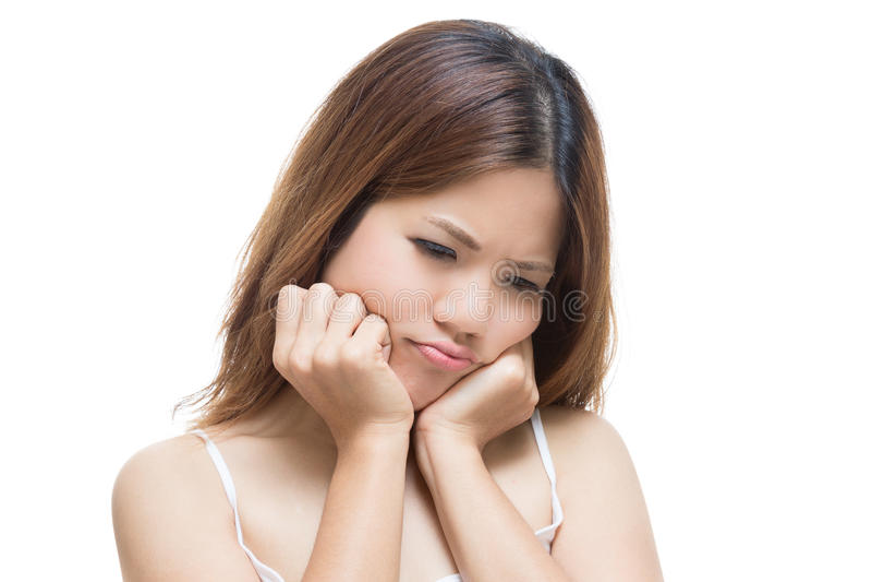 Toothache kobieta fotografia stock