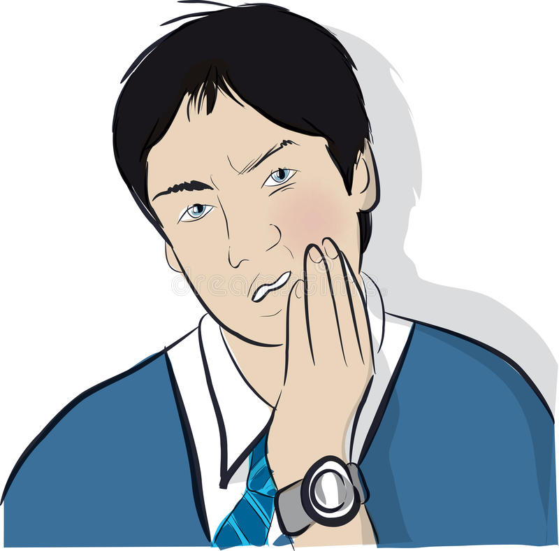 Toothache nastoletni ilustracji