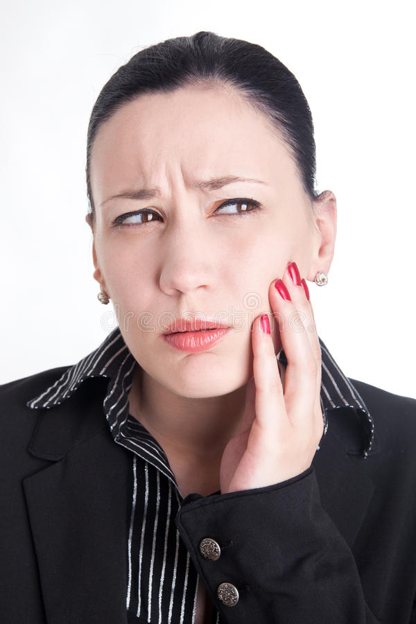 Download Toothache at work stock photo. Image of hair, toothache - 21389848