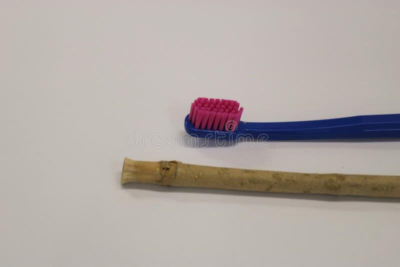 toothbrush Ручка Miswak Ручка Siwak Органическая зубная щетка стоковая фотография
