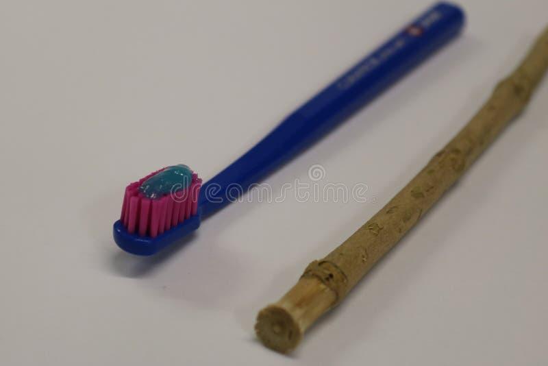 toothbrush Ручка Miswak Ручка Siwak Органическая зубная щетка стоковые фото