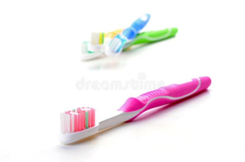 Toothbrush cor-de-rosa imagem de stock royalty free