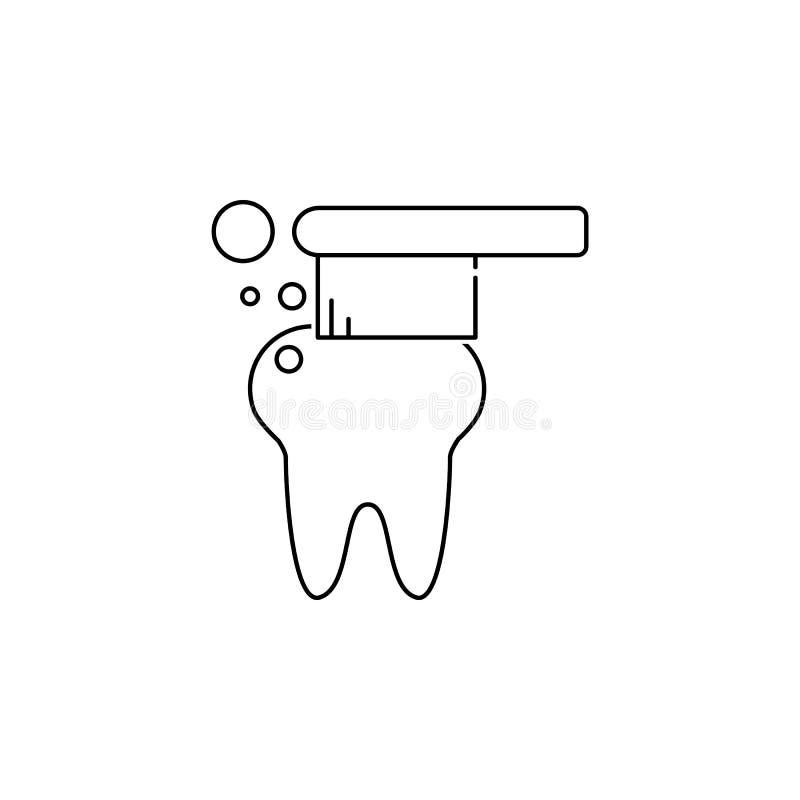 toothbrush ikona Stomatology znak Stomatologicznej opieki symbol Notatnika, kalendarza i Cogwheel znaki, Ściąganie sieci strzałko royalty ilustracja