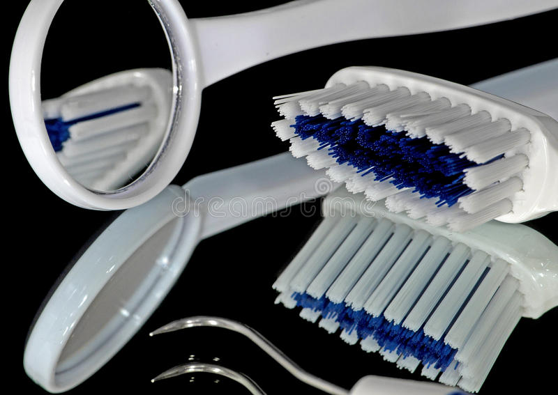 Toothbrush & Mirror royalty free stock image