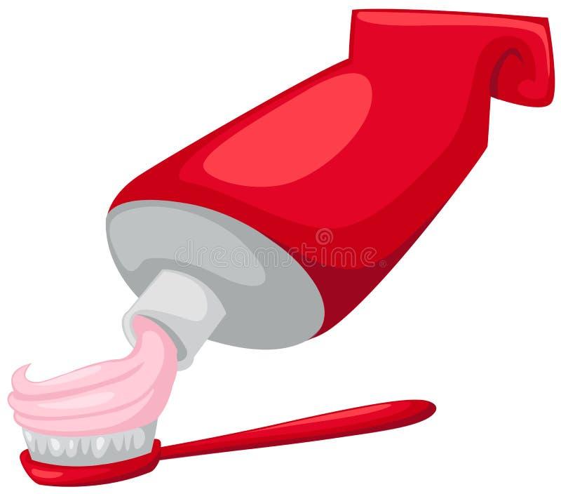 toothbrush pasta do zębów tubka ilustracja wektor