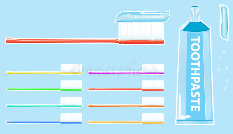 Download Toothbrush and toothpaste stock vector. Illustration of orthodontic - 17462994