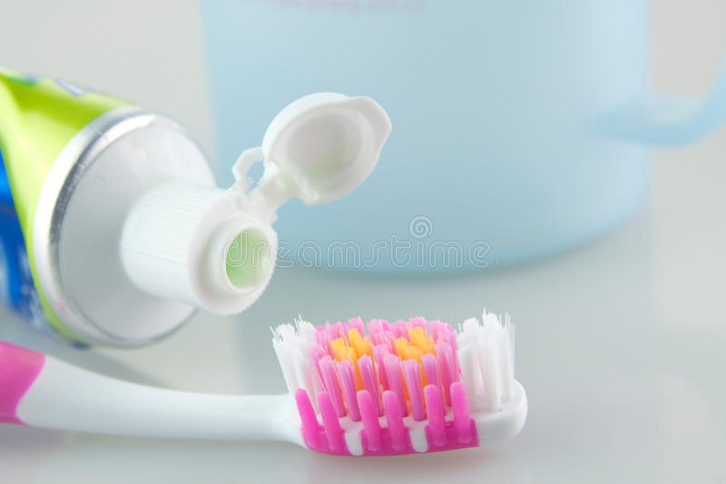 Download Toothbrush and toothpaste stock image. Image of cups - 23164693