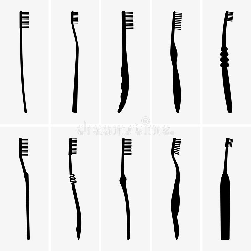 toothbrushes illustration stock