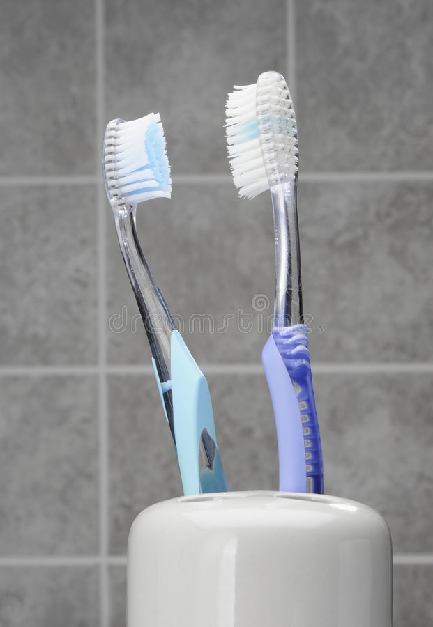 toothbrushes obraz royalty free