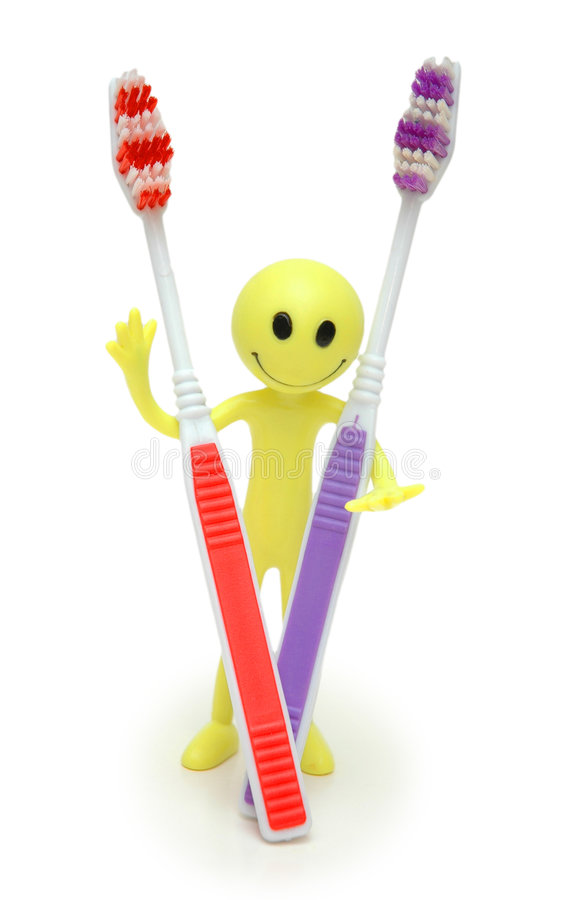 Download Toothbrushes and figure stock photo. Image of isolated - 1414636