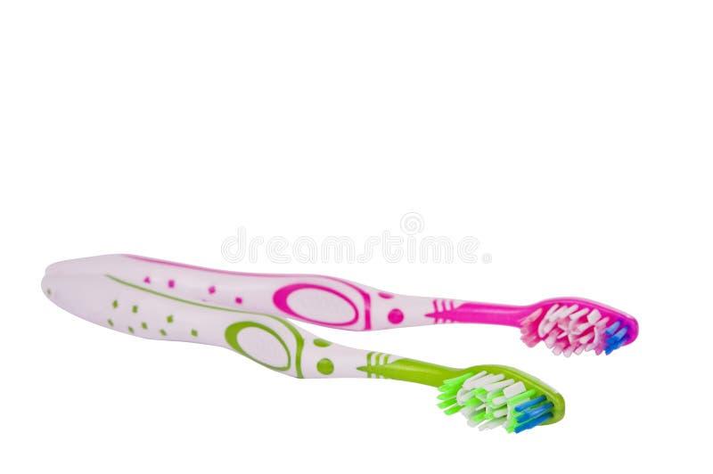 Toothbrushes odizolowywający fotografia stock