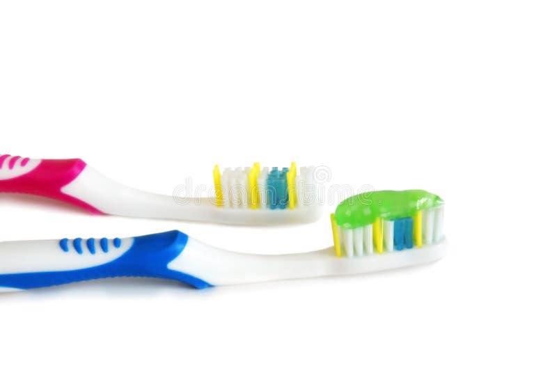 toothbrushes pasta do zębów zdjęcia royalty free