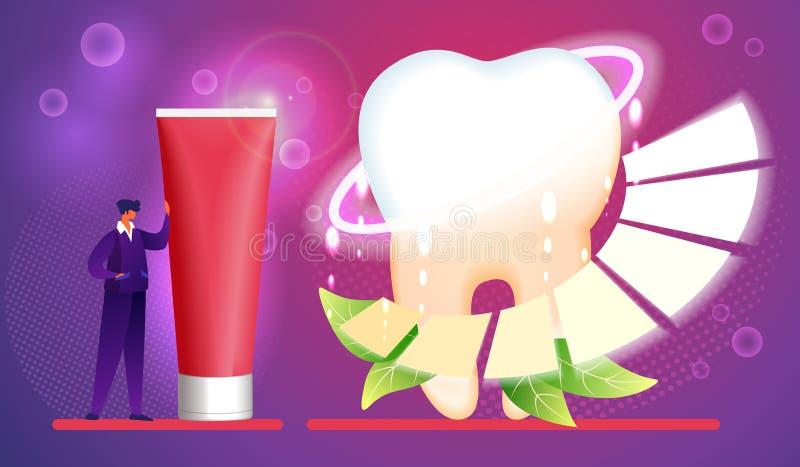 toothpaste Higiene, cuidado, concepto de cepillado de los dientes stock de ilustración