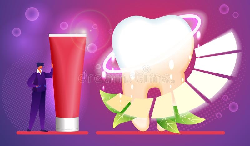 toothpaste Hygi?ne, soin, concept de brossage de dents illustration stock