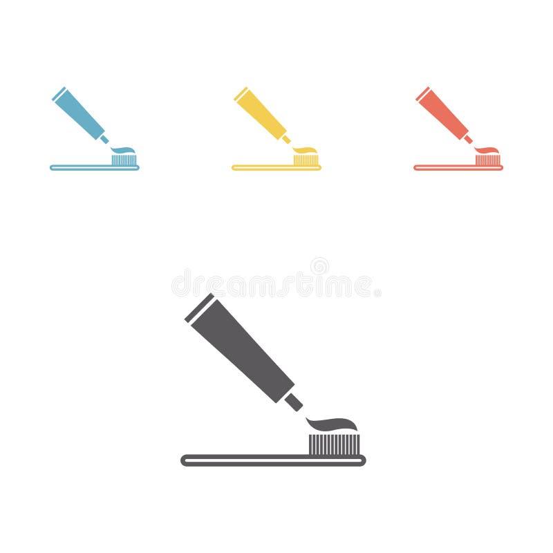 toothpaste Icône plate illustration stock