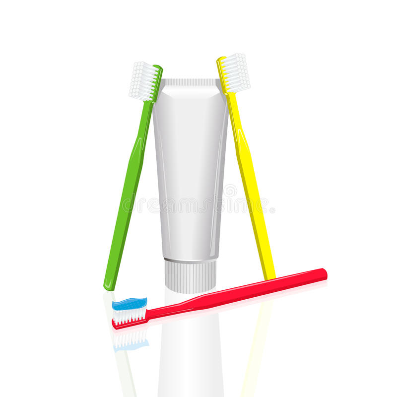Download Toothpaste and toothbrush stock vector. Image of blue - 27365893
