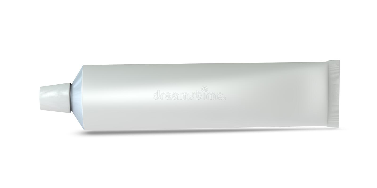 Toothpaste tube. One 3d toothpaste tube with blank space for general purpose stock illustration