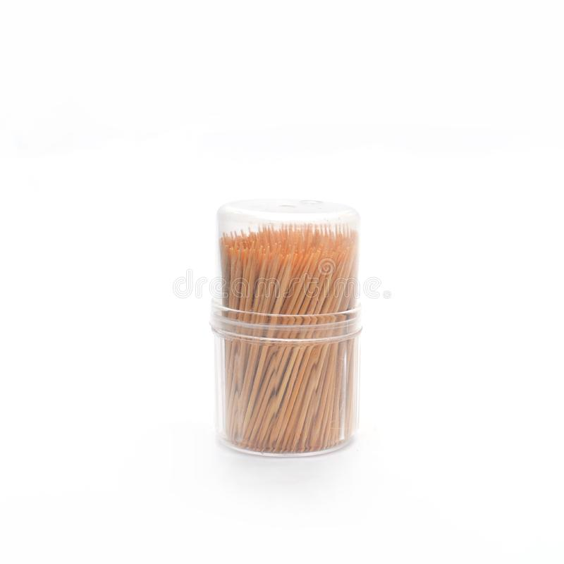 Toothpick isolated on white stock images