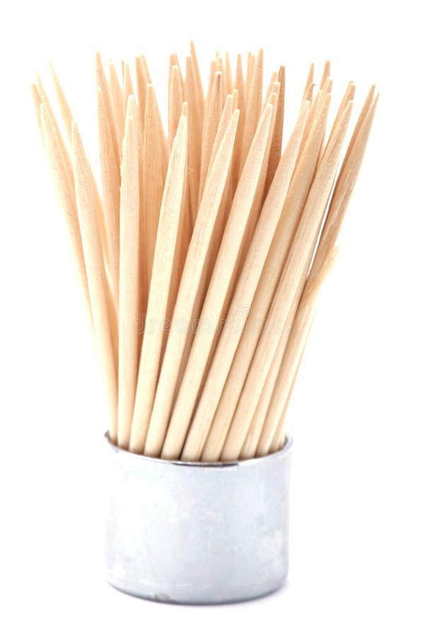 Toothpick no branco imagens de stock royalty free