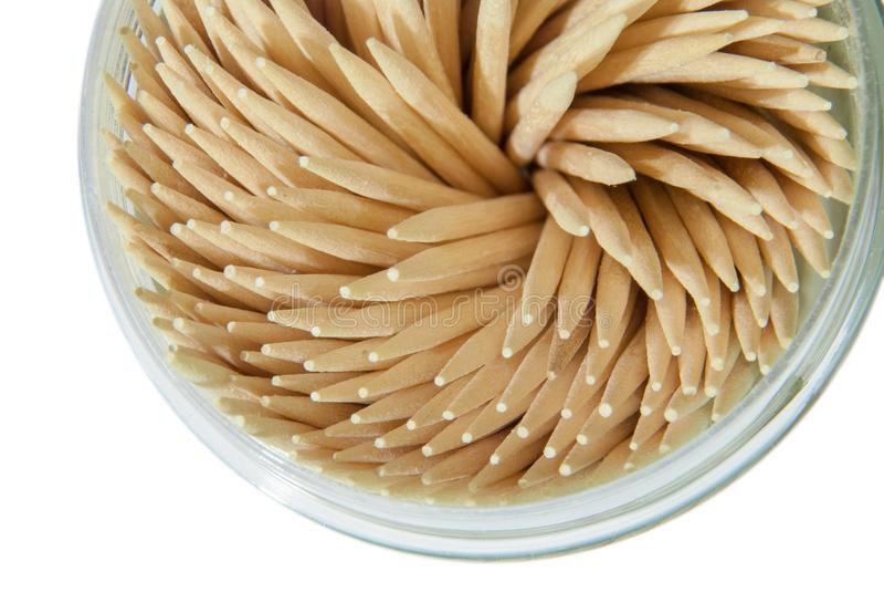 Toothpick on white background royalty free stock image