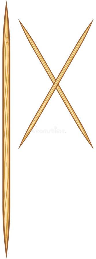 toothpicks иллюстрация вектора